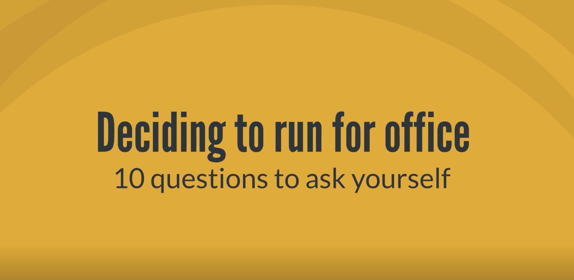 deciding to run